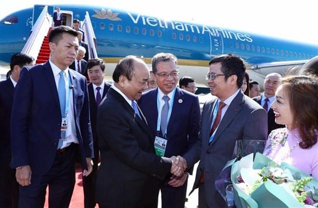"""阮春福总理抵达北京开始出席""""一带一路""""国际合作高峰论坛 hinh anh 1"""