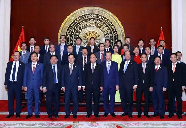 越南政府总理阮春福探访越南驻中国大使馆 hinh anh 1