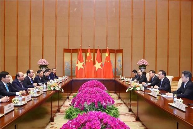 越南政府总理阮春福与中国国务院总理李克强举行会谈 hinh anh 2