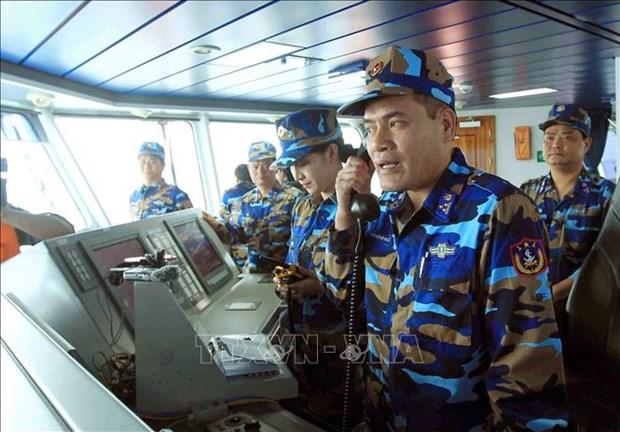 2019年越中北部湾共同渔区海上联合检查行动圆满结束 hinh anh 2