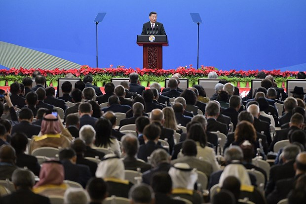 """""""一带一路""""国际合作高峰论坛在京开幕 越南欢迎推动区域互联互通的努力 hinh anh 2"""