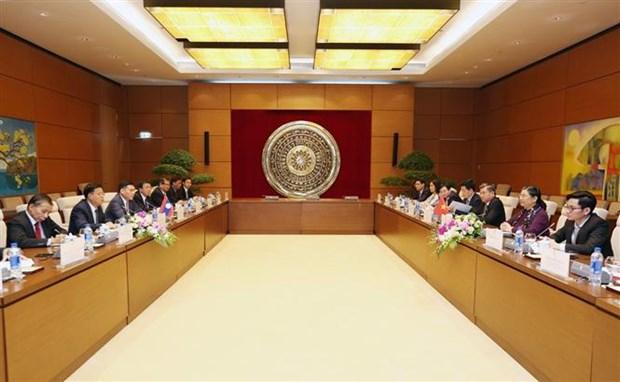 越南国会副主席丛氏放与老挝国会副主席宋潘·平坎米举行会谈 hinh anh 1
