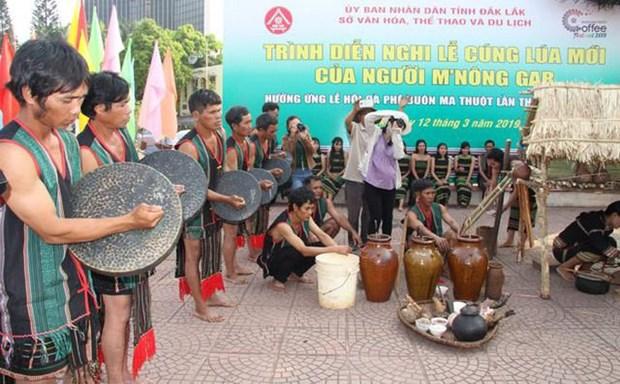 越南莫侬格人独特的新炊祭祀仪式 hinh anh 1