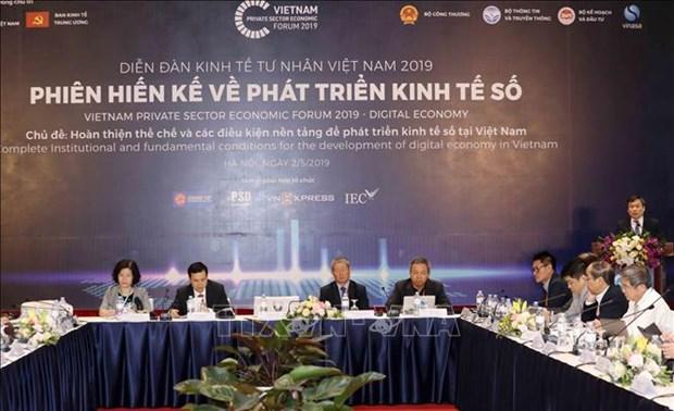 2019年私营经济论坛:为2019年越南数字经济发展完善相关体制 hinh anh 1