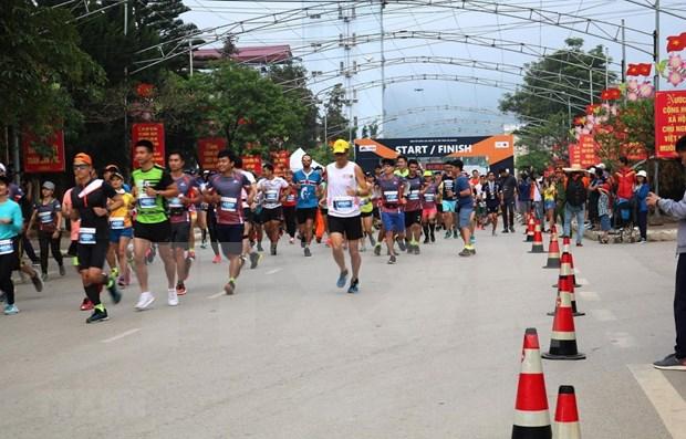 河江省:1000多名运动员参加国际马拉松长跑 hinh anh 2