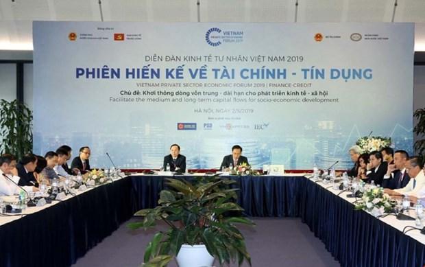 2019年越南私营经济论坛:疏通中长期资金流 促进经济社会发展 hinh anh 1