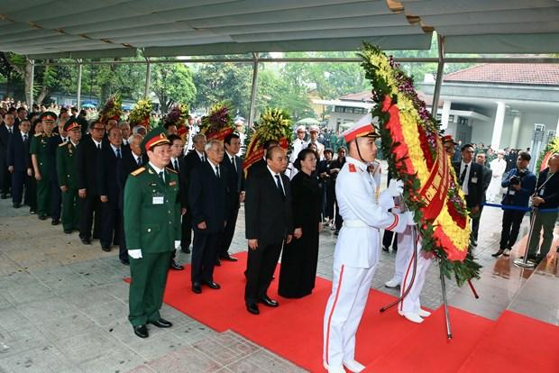 越南原国家主席黎德英吊唁仪式在庄严肃穆的气氛中举行 hinh anh 2