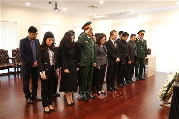 越南原国家主席黎德英吊唁仪式在印度尼西亚等国家举行 hinh anh 2