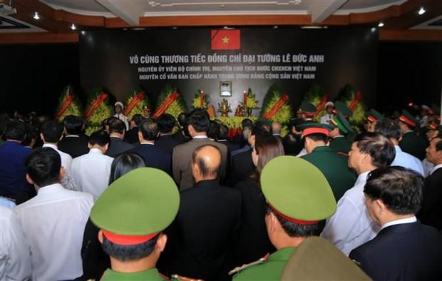越南各界送别黎德英同志:原越南国家主席黎德英遗体告别仪式在庄严肃穆的气氛中进行 hinh anh 4