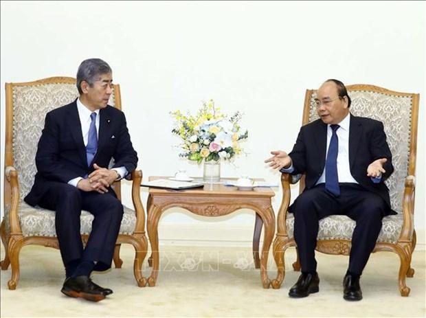 越南政府总理阮春福会见日本防卫大臣 hinh anh 2