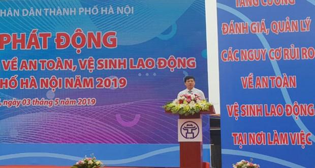 河内市启动2019年劳动卫生安全行动月 hinh anh 1
