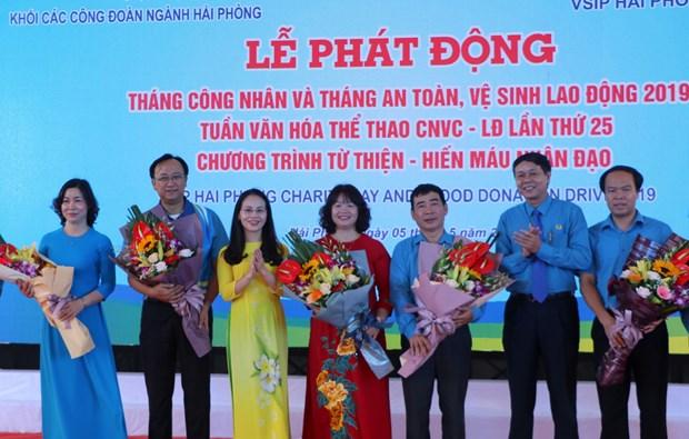 越南各地纷纷举行2019年工人月各项切实活动 hinh anh 1