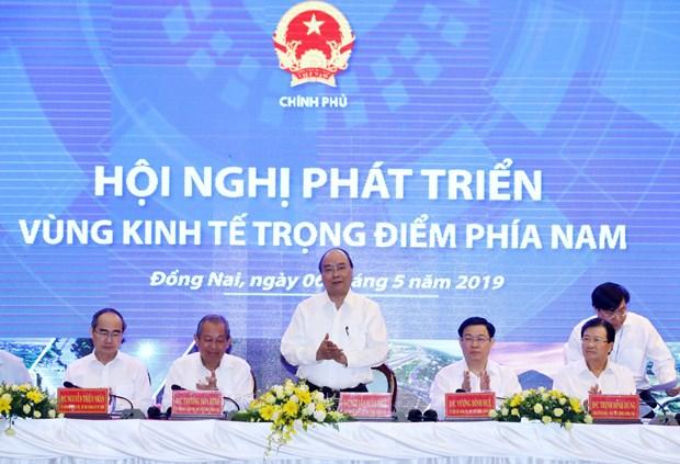 阮春福总理主持南部重点经济区发展会议 hinh anh 1