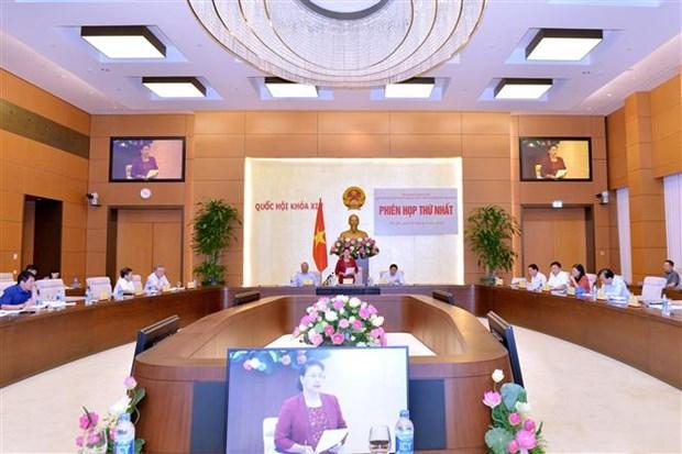 越共中央政治局关于越南法律体系建设决议总结工作指委会召开首次会议 hinh anh 1