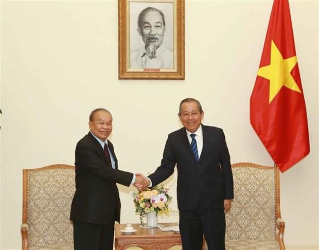 促进越柬睦邻友好、传统友谊、全面合作、长期稳定的关系发展 hinh anh 1
