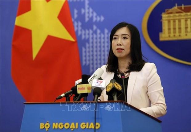 越南外交部发言人:越南建议东海周边国家继续为维持海上和平稳定做出贡献 hinh anh 1