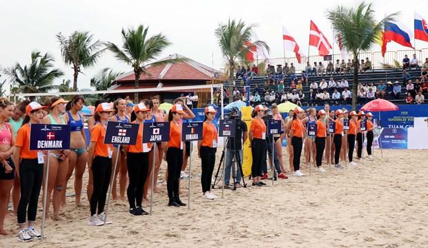 26支球队参加2019年广宁省巡洲世界女子沙滩排球锦标赛 hinh anh 1