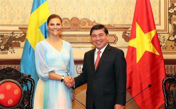 胡志明市领导会见瑞典女王储维多利亚 hinh anh 1