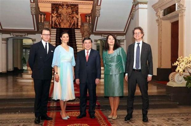 胡志明市领导会见瑞典女王储维多利亚 hinh anh 2