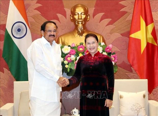 国会主席阮氏金银会见印度副总统奈杜 hinh anh 1