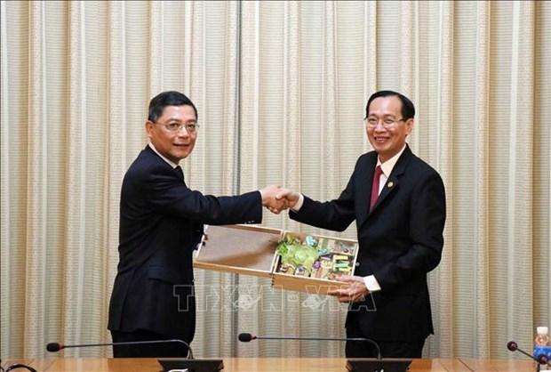 推动胡志明市与中国上海市的合作 hinh anh 1