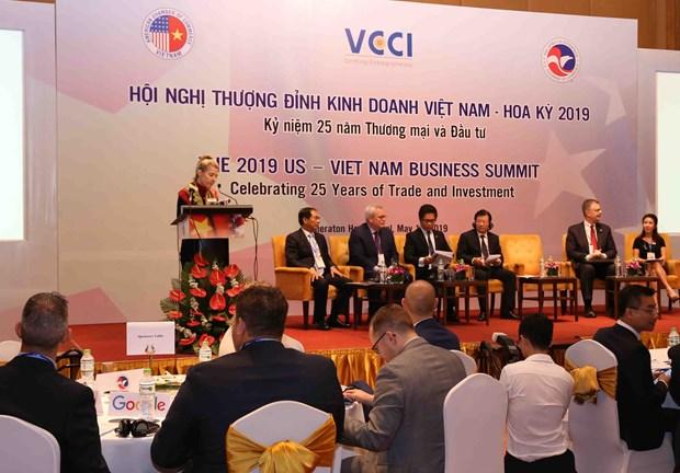 亚马逊、谷歌、脸书等美国各大公司代表参加2019年美国-越南工商峰会 hinh anh 1