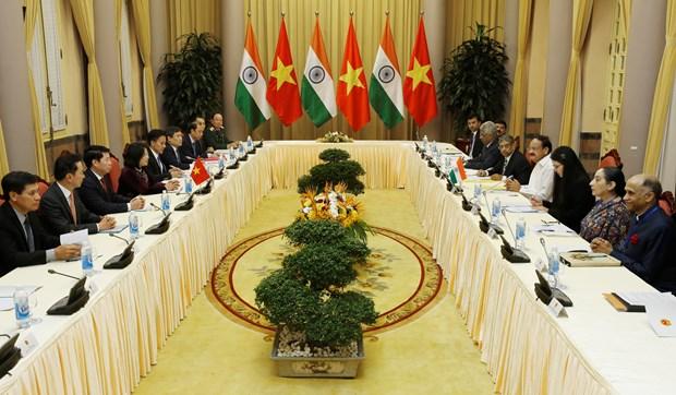 越南国家副主席邓氏玉盛与印度副总统奈杜举行会谈 hinh anh 2