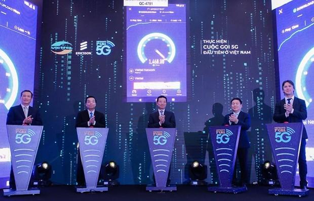 越南成功实现首次5G手机通话 hinh anh 1