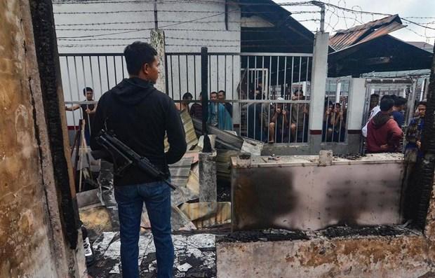 印尼一监狱发生暴乱警方抓获100多名越狱囚犯 hinh anh 1