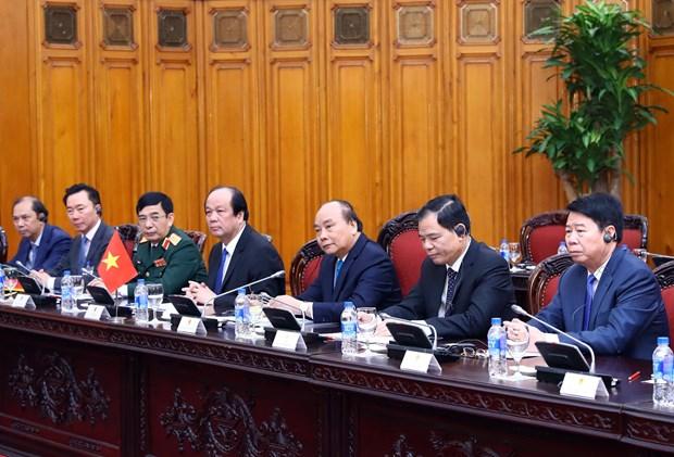 越南政府总理阮春福与尼泊尔总理奥利举行会谈 hinh anh 3