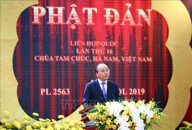 2019年联合国卫塞节在越南河南省三祝寺隆重开幕 hinh anh 5