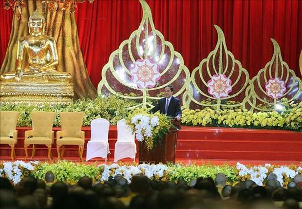 政府宗教委员会主任会见中国、老挝、柬埔寨、泰国等国佛教代表团 hinh anh 1