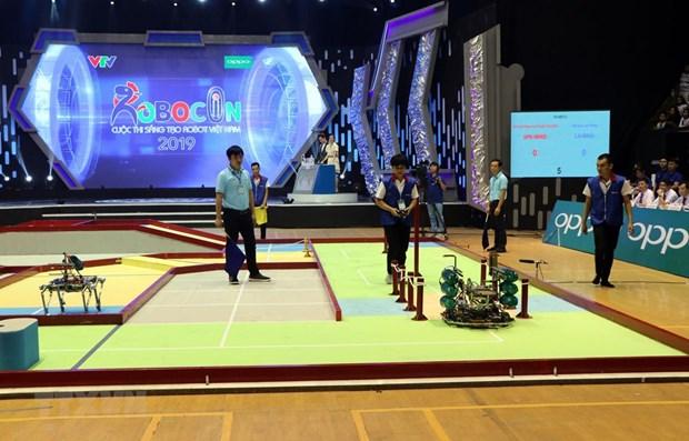 2019年越南机器人大赛总决赛:雒红大学LH-WAO队获冠军 hinh anh 1