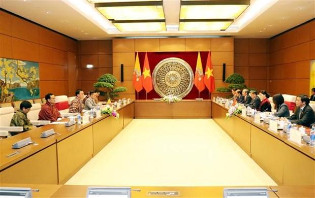 越南国会主席阮氏金银与不丹国家委员会主席塔希·多吉举行会谈 hinh anh 1