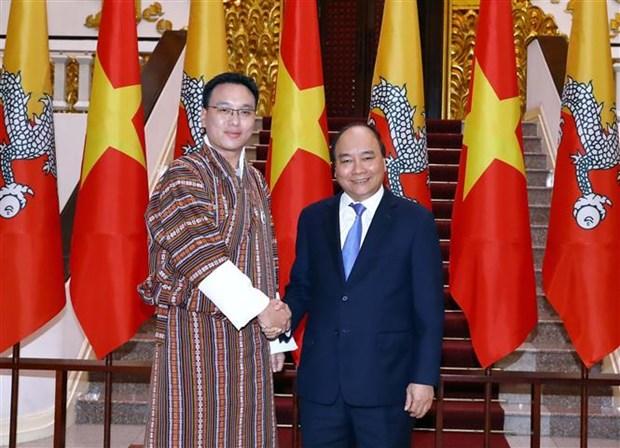越南政府总理阮春福会见不丹国家委员会主席塔希·多吉 hinh anh 1