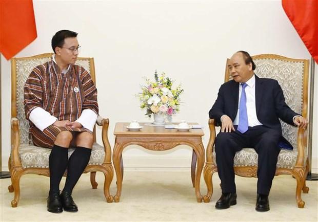 越南政府总理阮春福会见不丹国家委员会主席塔希·多吉 hinh anh 2