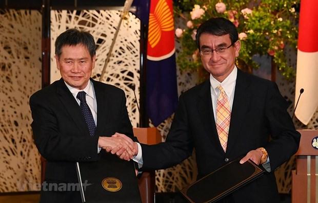 东盟与日本签署技术合作协议 hinh anh 1
