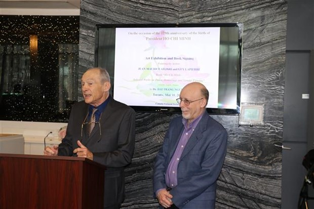 加拿大画家的胡志明主席主题画展在多伦多举行 hinh anh 2