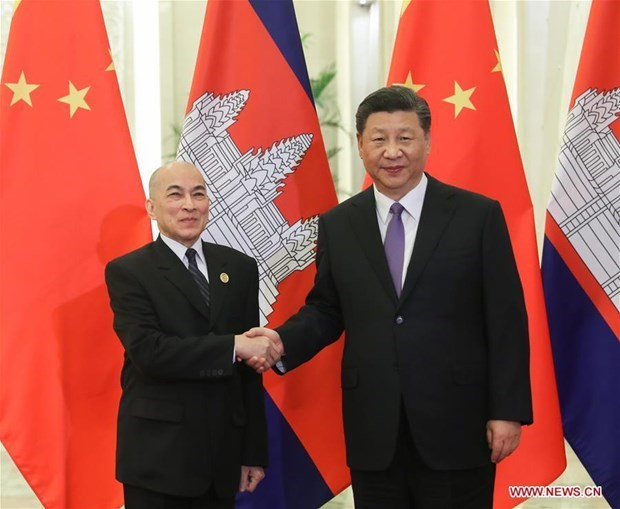中国与柬埔寨和新加坡加强合作关系 hinh anh 1
