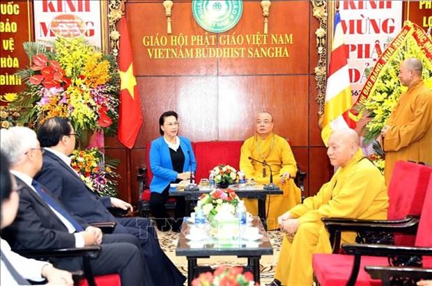 阮氏金银主席:越南佛教协会已成功举办2019年联合国卫塞节 hinh anh 1
