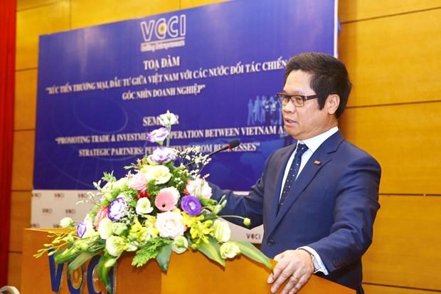 越南重视促进与各战略伙伴之间的贸易投资发展 hinh anh 1