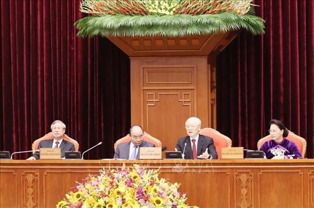 越共第十二届中央委员会第十次全体会议在河内隆重开幕 hinh anh 2