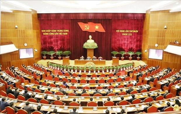 越共第十二届中央委员会第十次全体会议在河内隆重开幕 hinh anh 1