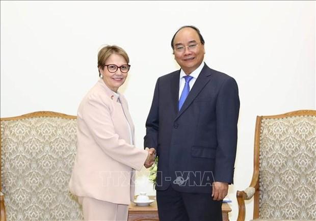 政府总理阮春福会见巴西农业部长克里斯蒂娜 hinh anh 1