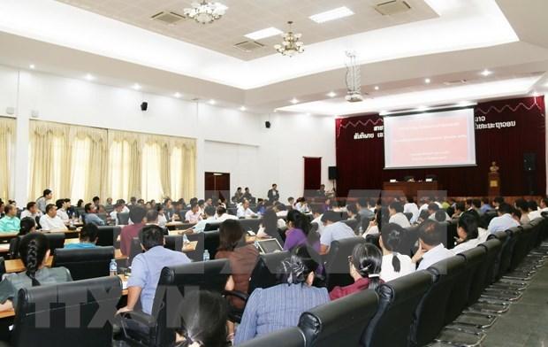 老挝工贸部举行奠边府大捷等重要历史事件宣传会议 hinh anh 1