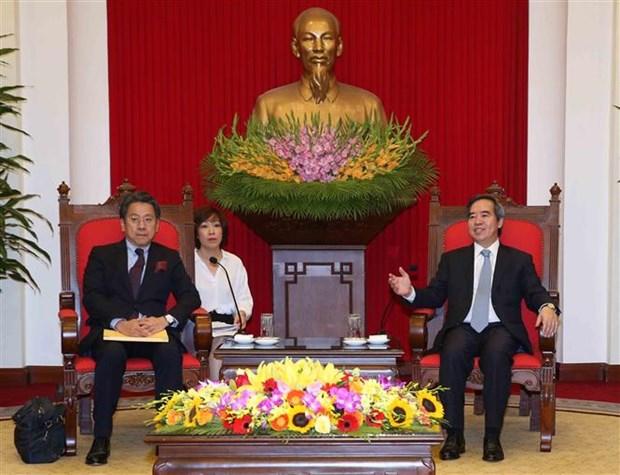 中央经济部部长阮文平会见日本国际协力银行执行董事 hinh anh 2
