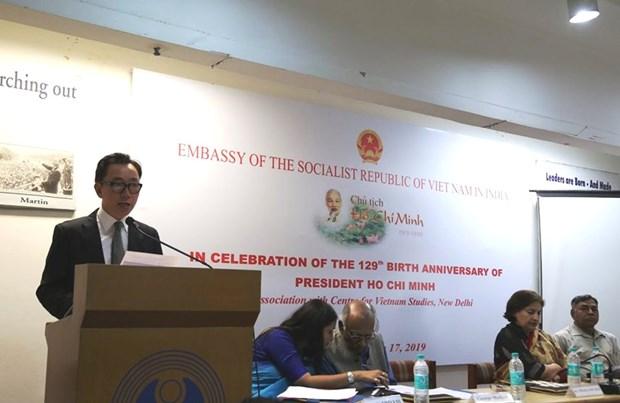 胡志明主席诞辰129年纪念活动在印度举行 hinh anh 1