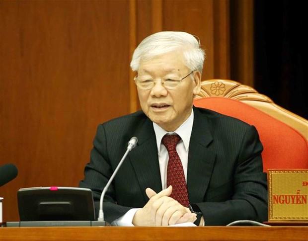 越共十二届中央委员会第十次会议闭幕 hinh anh 1