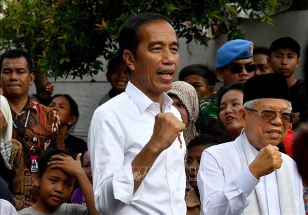 越南领导人向印度尼西亚总统和副总统致贺电 hinh anh 1