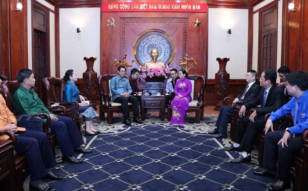 进一步加强胡志明市共青团与老挝人民革命青年团的合作 hinh anh 2